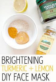 brightening turmeric lemon diy face mask with beautifying turmeric and healing manuka honey