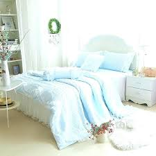 dark blue bedding sets dark blue quilt bedding girls sky blue solid tulle ruffle quilt bedding