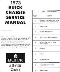 1973 buick repair shop manual cd rom all models find out what is covered by clicking here to see the table of contents