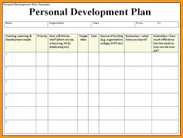 Career Development Plan Template Individual Example Personal ...