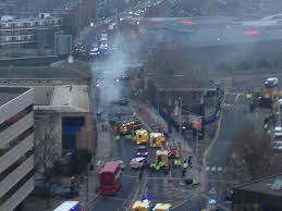 crash in vauxhall london fires and ambulance services at the scene helicopter crash in vauxhall london fires and ambulance services at the scene