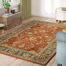 orange and brown area rug orange and brown area rugs burnt orange and brown area rugs waterston hand tufted wool burnt orange dark brown area rug