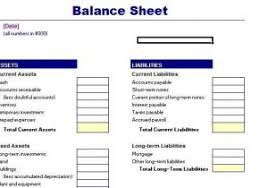 balance sheet template balance sheet simple example balance statement example of simple
