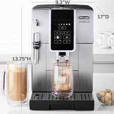 This new machine is the world's first fully automatic espresso machine starring iced coffee technology. Delonghi Dinamica Fully Automatic Coffee Maker Espresso Machine Williams Sonoma