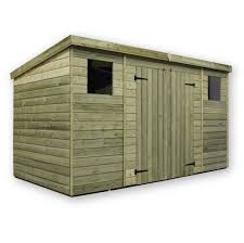 Double Shed Door Design Empire Sheds P12x82ddc 12 X 8 Ft Pent With 2 Windows Centre