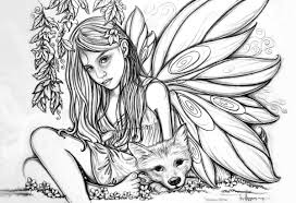 fairy color pages strong realistic fairy coloring pages abstract 383 unknown