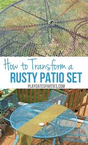 how to paint rusted patio furniture rusted metal metal furniture and rust