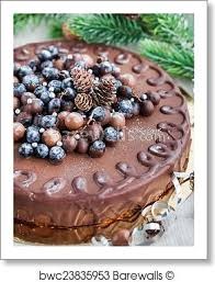 Chocolate Cake Decorated With Fresh Berries Art Print Barewalls