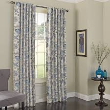 single panel curtain. Winsome Curtain Panels 27 Jessamy Naturefloral Max Blackout Rod Pocket Single Panel . Cabinet Graceful