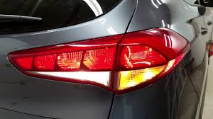 Hyundai Tucson Rear Light 2016 2017 2018 Hyundai Tucson Suv Testing Tail Lights After Changing Burnt Out Light Bulbs