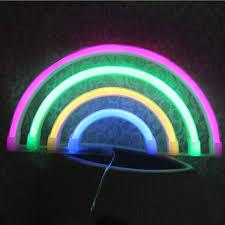 Neon Lights For Dorm Rooms Uniqueen Rainbow Led Neon Light Led Rainbow Light Lamp For