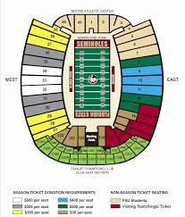 Doak Campbell Stadium Interactive Seating Chart Stadium
