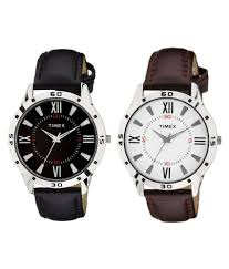 timepiece 113 114 leather og men s watch pack of 2 timepiece 113 114 leather og men s watch pack of 2 at best s in india