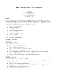 Administrator Resume Admin System Template Sample Templates Doc