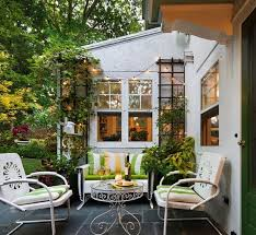 in order to get a charming cottage garden style look allow plants to grow on a wood trellis on your patio the vines will wrap around the trellis and you