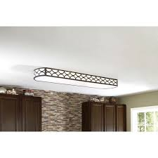 kitchen linear dazzling lights clear ceiling recessed: shop allen roth light bronze ceiling fluorescent light energy star common