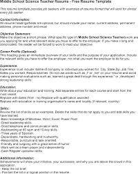 Middle School Teacher Resume Middle School Teacher Resume Sample