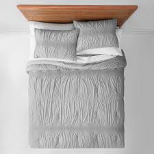 opalhouse solid heather ruched jersey comforter set twin twin xl gray