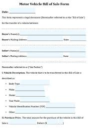 Free Forms Bill Of Sale Simple Bill Of Sale For Car Template Forms Pictures Blank