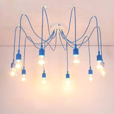 diy cable lighting. aliexpresscom buy free shipping silicone colorful pendant lights diy multi color e27 bulb holder lamps 10 arms fabric cable pendants from reliable diy lighting r