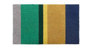 colourblock doormat 45 x 75cm blue green yellow doormats and hallway rugs home accessories made com