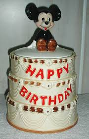 Mickey Mouse 50th Anniversary Birthday Cake Cookie Jar By Walt
