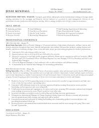Resume Samples For Retail Sle Resume Retail Sales Specialist Magnificentsume Examples Fortail 27