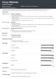 Restaurants Resume Examples Restaurant Resume Sample And Complete Guide 20 Examples