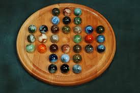 Wooden Game With Marbles Marble Solitaire game board 100 Marbleboardgames 32