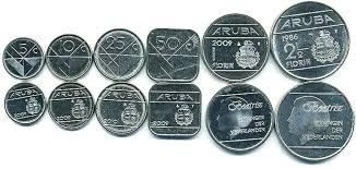 Währungssymbol ƒ gulden, eine spätere goldmünze im. Currency Aruba