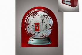 3d snow globe clic red letter box greetings card exle image 1