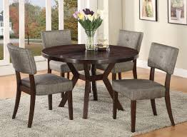com acme furniture top dining table set espresso finish drake collection 4 chairs table chair sets