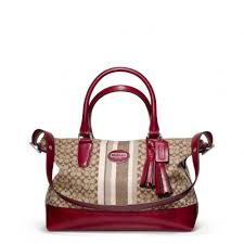 Lyst - Coach Legacy Signature Stripe Molly Satchel in Red