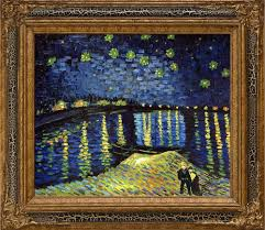 tell a friend starry night over the rhone pre framed vincent van gogh 338 00