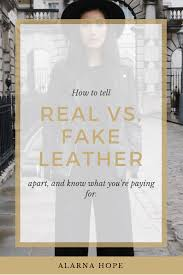 how to tell fake and real leather apart