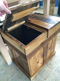 diy kitchen recycling bins wooden trash can bin designs