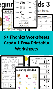 Includes differentiated support and independent sheets. Phonics Worksheets Grade 1 Worksheets Free
