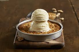 peanut er pizookie this super moist rich and delicious peanut er cookie is topped with vanilla bean ice cream and baked to order