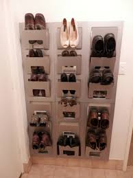 interior: Unique And Unusual Designed Ikea Shoe Closet Which Is Created  Using Brilliant Ideas Such