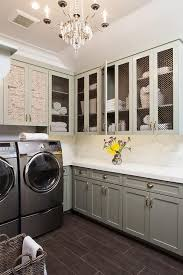 french laundry room with en wire cabinets