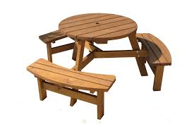 round picnic tables table plans wood round picnic table with umbrella lifetime
