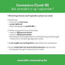 Aanpassingen coronamaatregelen vanaf 24 augustus