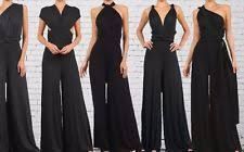 infinity jumpsuit. womens infinity convertible jumpsuit multiway wrap solid romper v