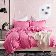 2019 luxury blue pink solid duvet cover stripe ruffle set us king queen twin size girls bedding quilt set capa de edredon ss from instrumenthome