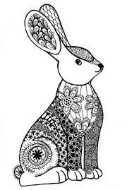 Kleurplaat Konijn En Libelle Drawing Zentangles Doodles