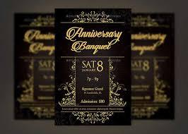Golden Anniversary Banquet Flyer Template On Behance