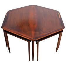 hexagon coffee table hexagon coffee table and nesting tables danish mid century modern in rosewood for hexagon coffee table