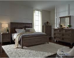 Driftwood Bedroom Furniture Talbot 4 Piece Panel Bedroom Set In Driftwood
