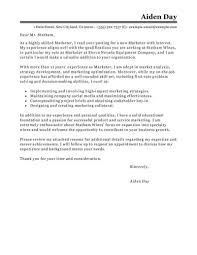 Successful Cover Letter Examples Best Marketing Cover Letter Examples Livecareer Marketing Covering