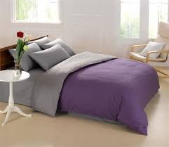 king size queen bedding set quilt doona duvet cover designer double artistic purple and grey nice 10